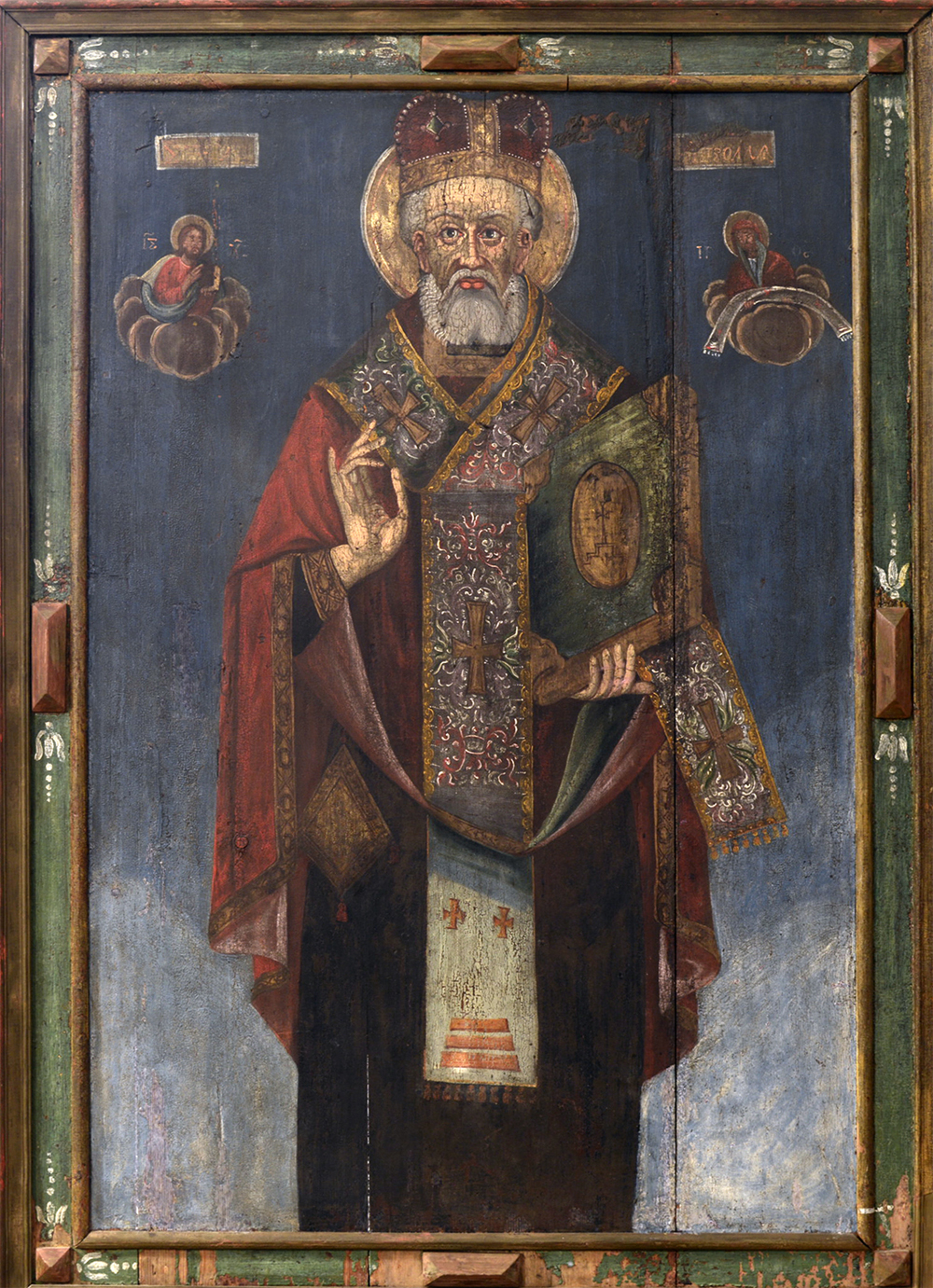Icon. St. Nicolas the Wonderworker. 1st half of the 18th c. 128х96 cm
