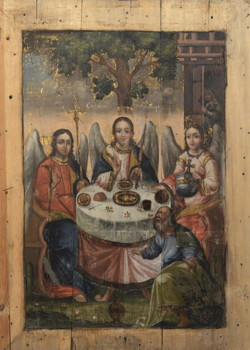 Icon. The old testament Trinity. 18th c. 132х94 cm.