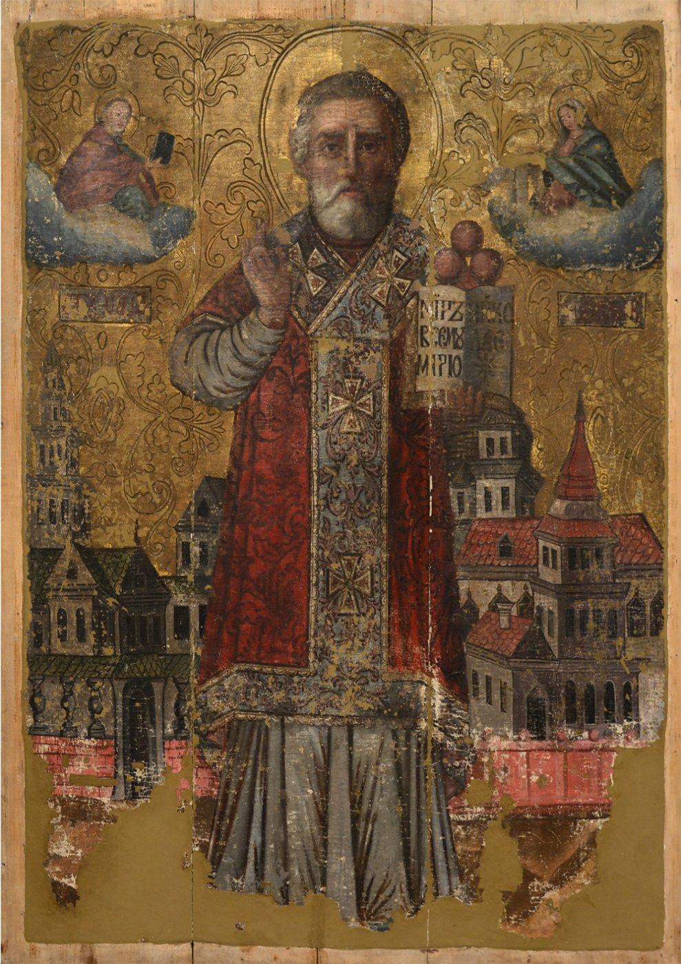 Icon. St. Nicolas the Wonderworker. 2nd half of the 18th c. 118х84 cm.
