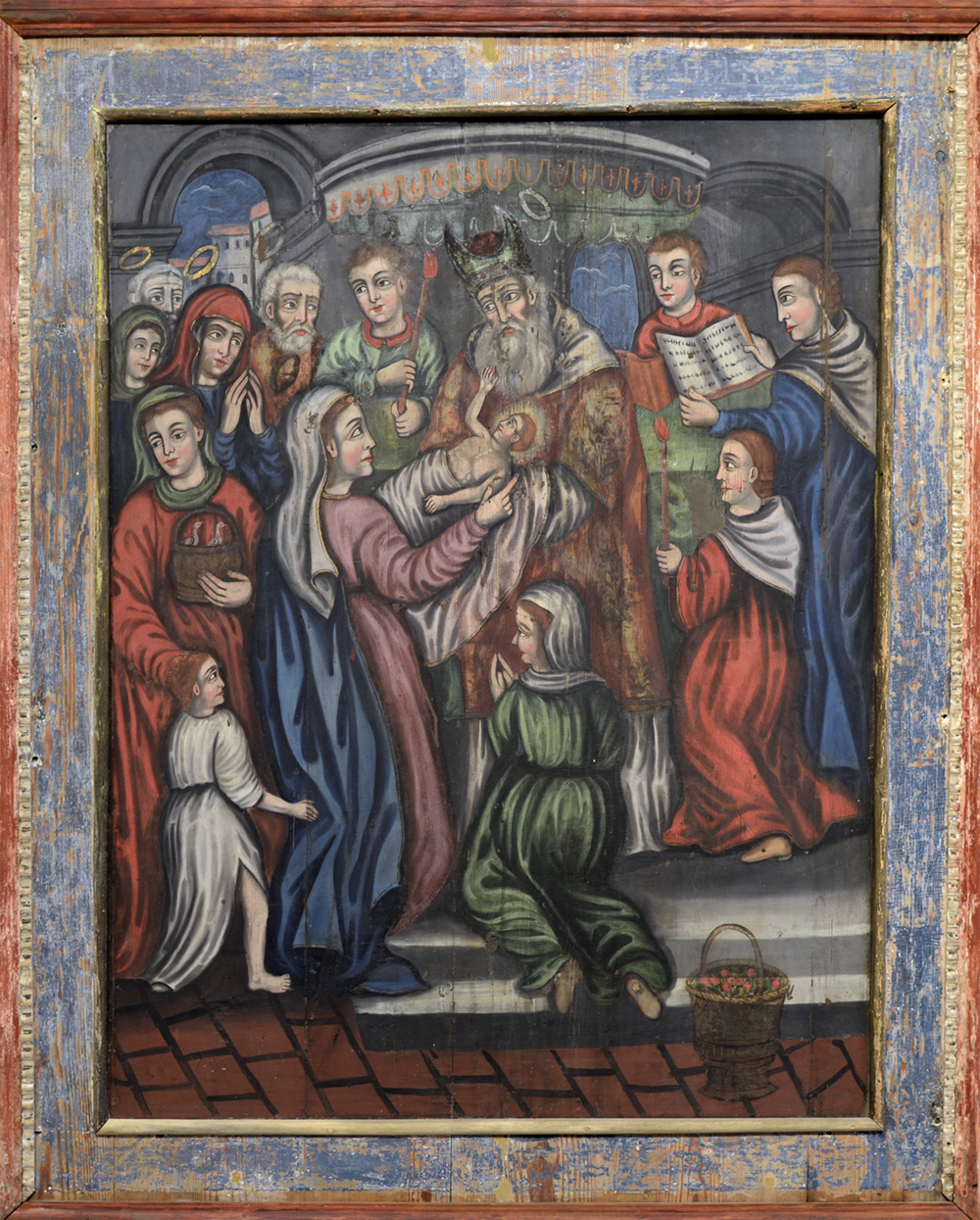 Icon. The Meeting of the Lord. 1st half of the 18th c. 134,5х107 cm