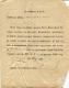 Повестка Дисненского уездного полицейского управления. Дисна, 1879 г.