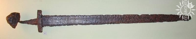 A sword. 10th century. Iron, smithing. L-97,0 cm. Found on the territory of Polotsk in 1957