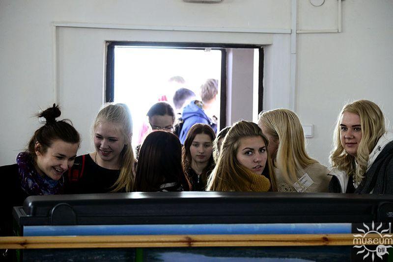 Учащиеся «Полоцкого государственного химико-технологического колледжа». Выставка «Утиные истории». Природно-экологический музей, Полоцк, 2016